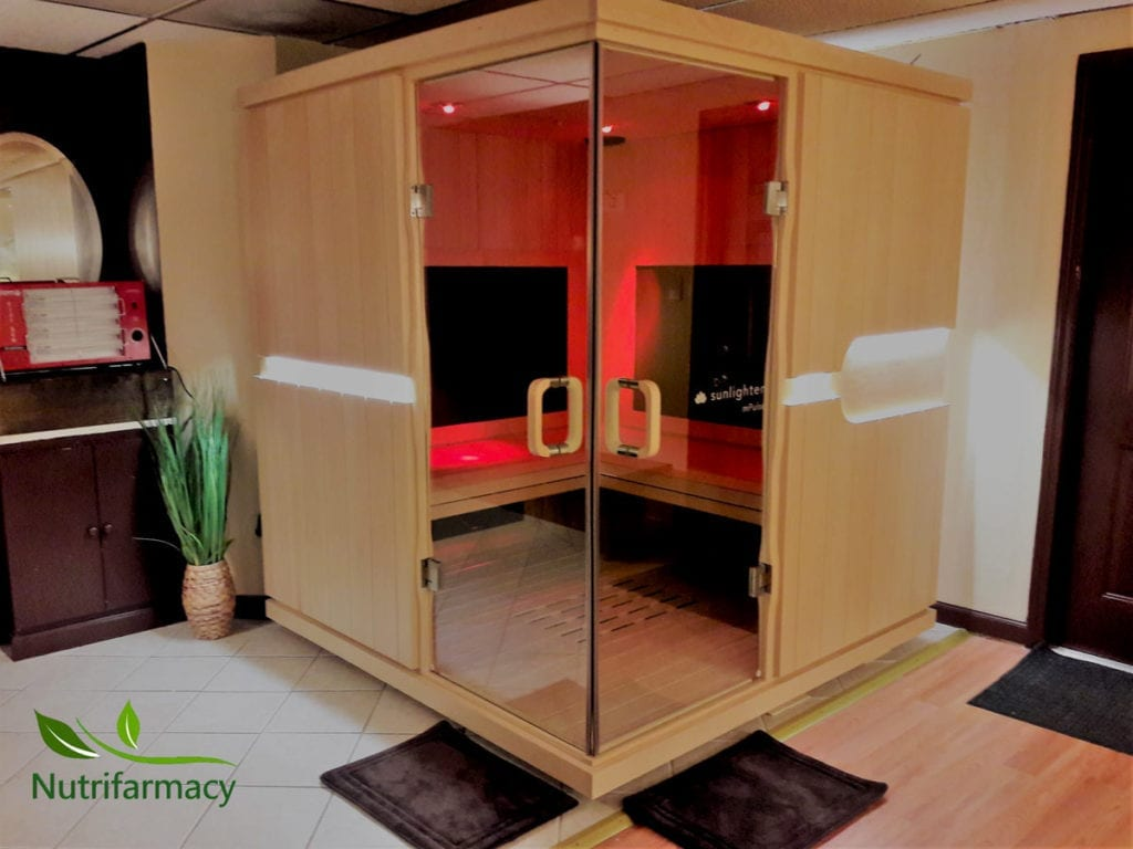 The infrared sauna in Pittsburgh's North Hills, at the Nutrifarmacy