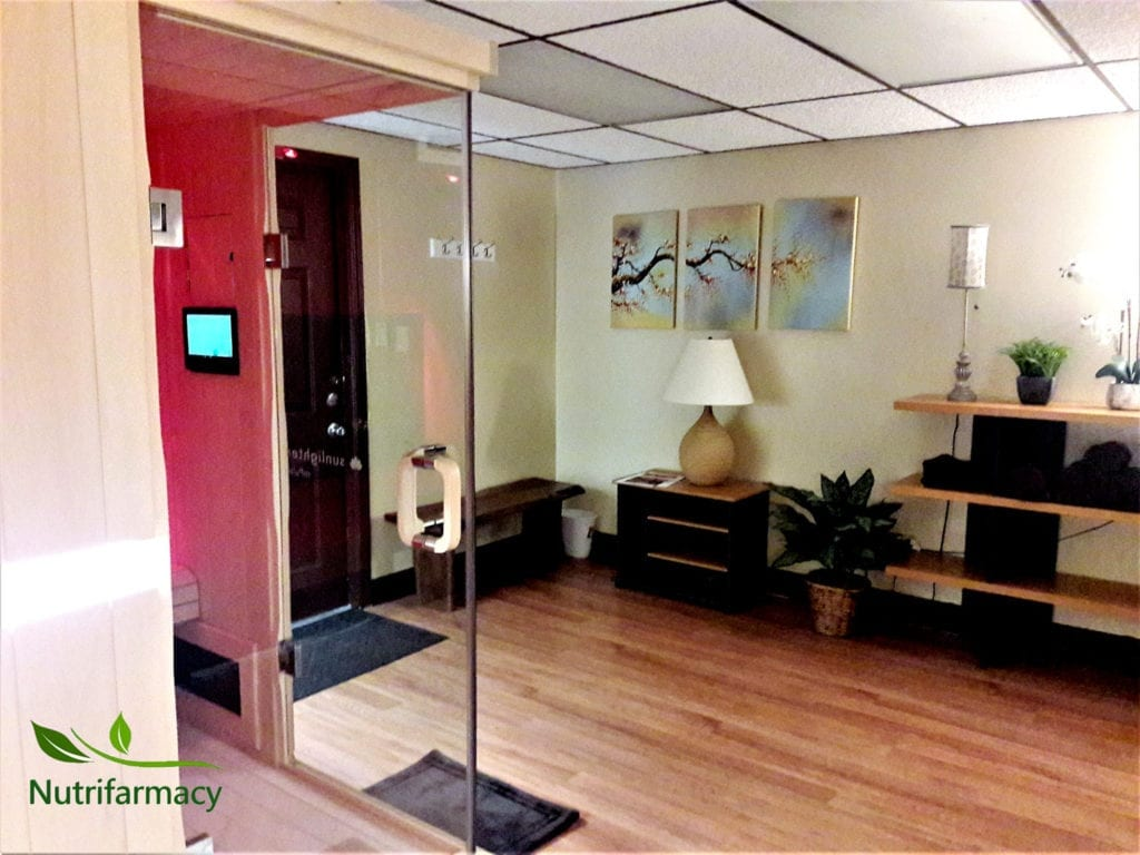 the infrared sauna at Pittsburgh's Nutrifarmacy