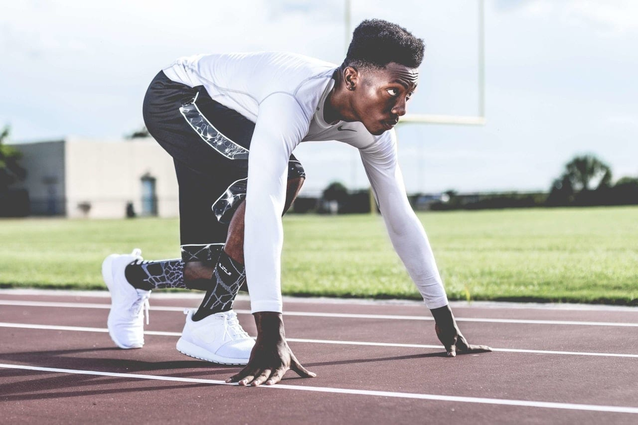 an athlete on a track